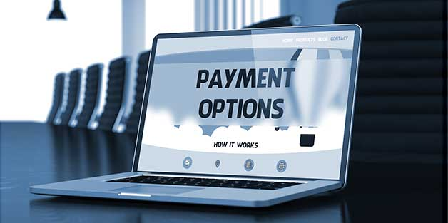 Picture of Payment OPtions on Laptop